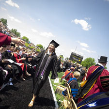 """Commencement 2019 Recap: """"Show the rest of the world what makes a Gustie different."""" —Meghan Gallagher '19"""