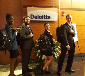 Gustavus Team Wins Deloitte Accounting Competition